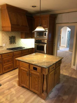 Kitchen Refinishing Before Paint Ovations Plano Texas