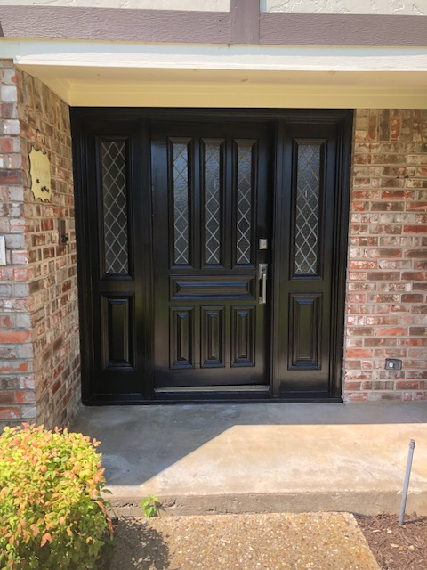 Front door painting and staining Dallas Texas