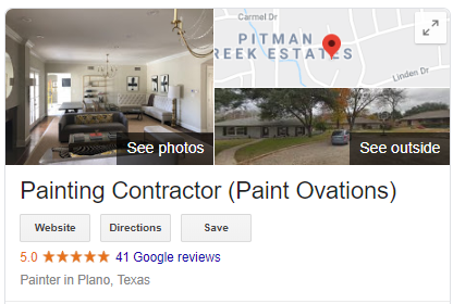 Paint Ovations Google Reviews