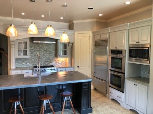 Kitchen Cabinet painting by Paint Ovations in Plano Texas