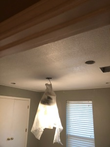 Popcorn and textured Ceiling Removal Services in Plano, Texas.