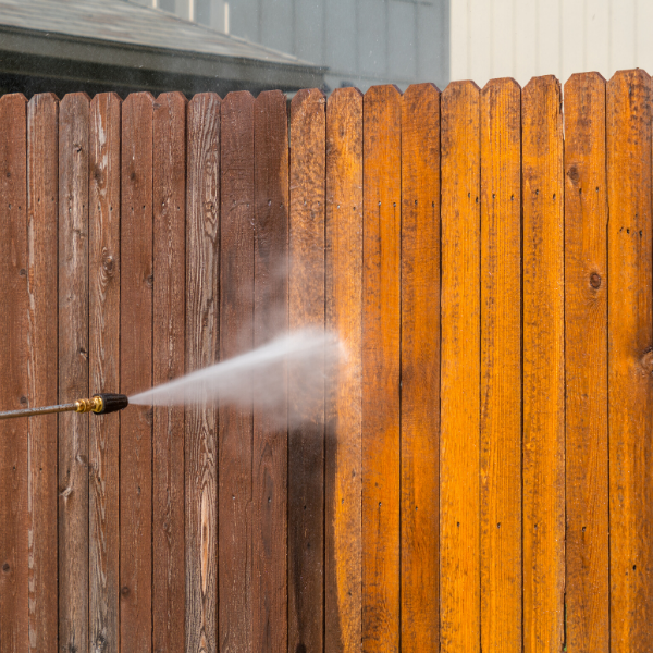 Fence and deck power washing
